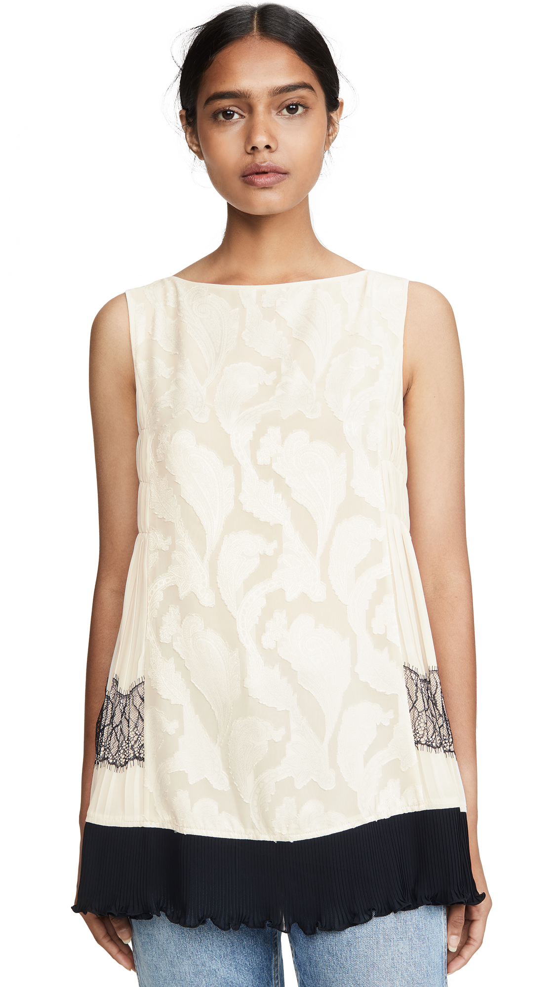 Buy Adeam online - photo of Adeam Pleated Lace Top