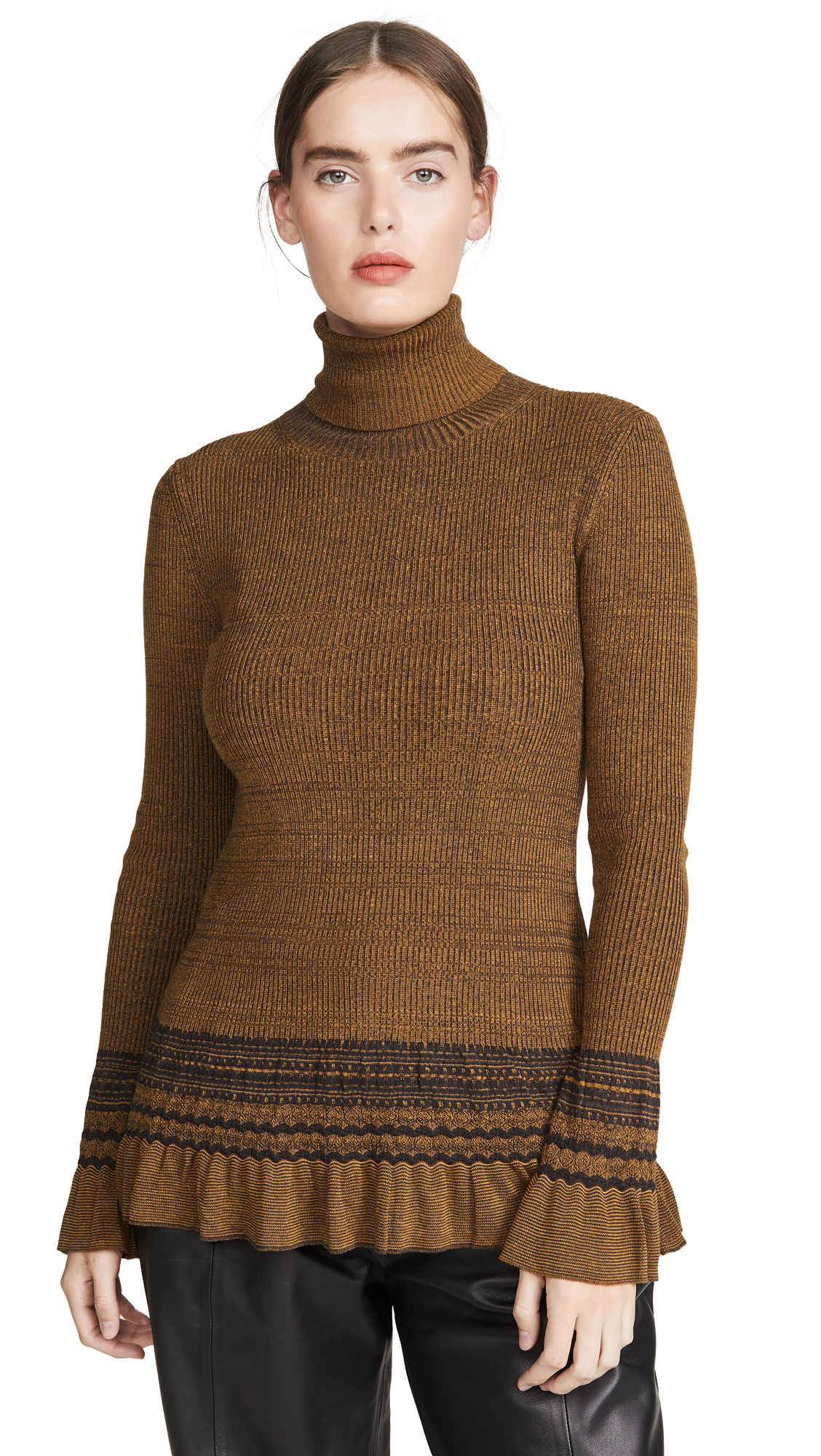 Buy Adeam online - photo of Adeam Ribbed Turtleneck Tunic