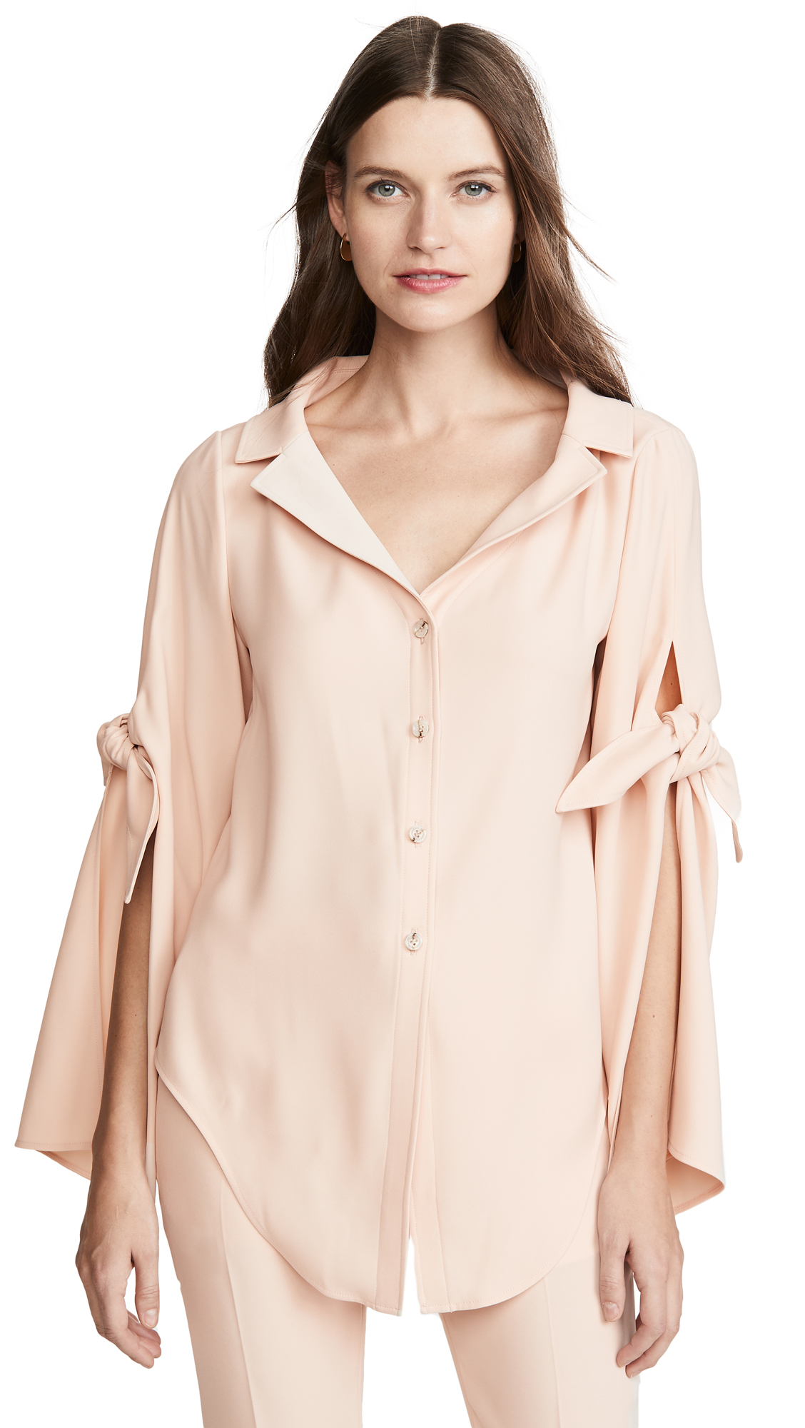 Adeam Long Sleeve Tie Blouse - 50% Off Sale