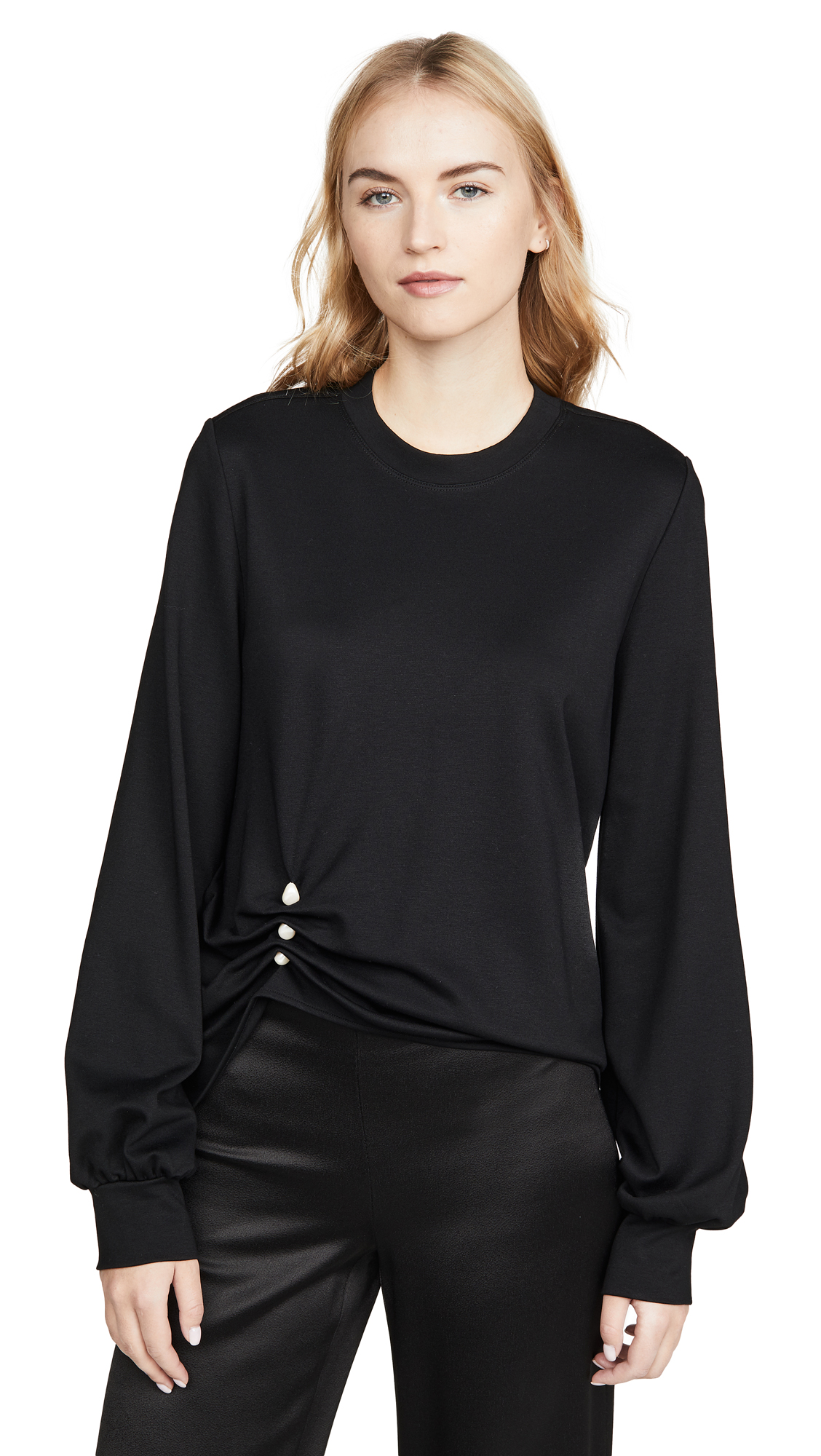 Adeam Imitation Pearl Sweatshirt - 60% Off Sale