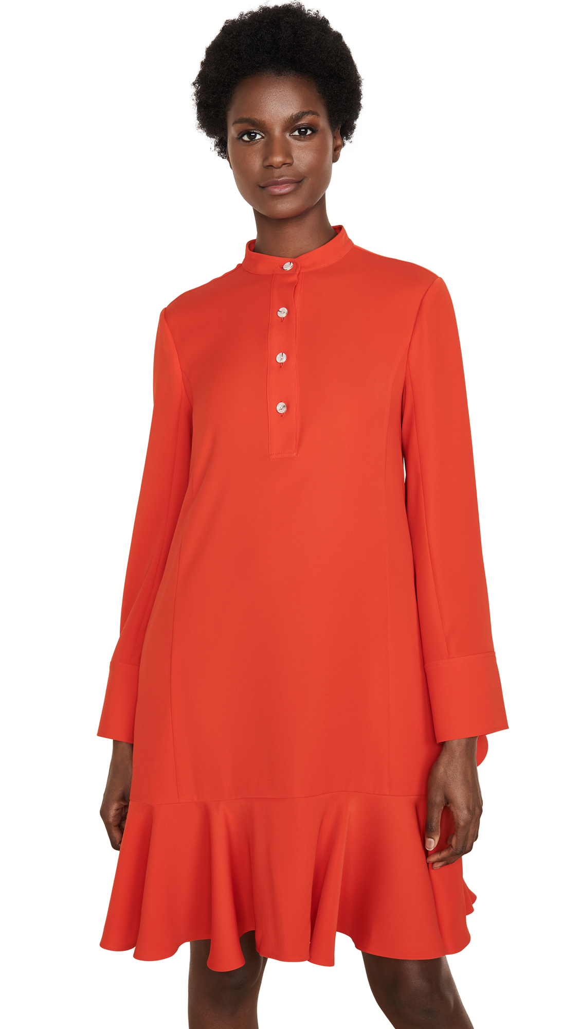 Buy Adeam Ruffle Shirt Dress online beautiful Adeam Clothing, Dresses
