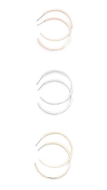 Adia Kibur Medium Round Hoop Earring Set