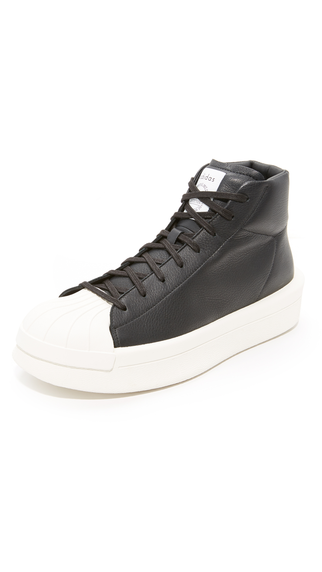 lace-up platform hi tops - Black Rick Owens x adidas 3mU8DD