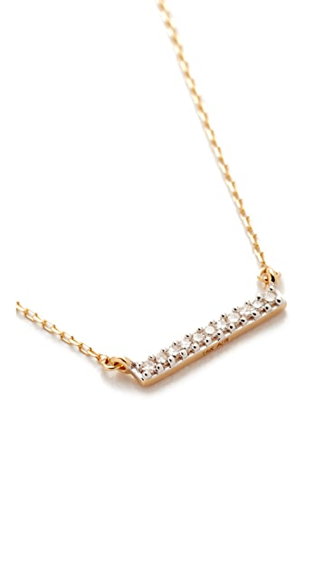Adina Reyter 14k Gold Pave Bar Necklace