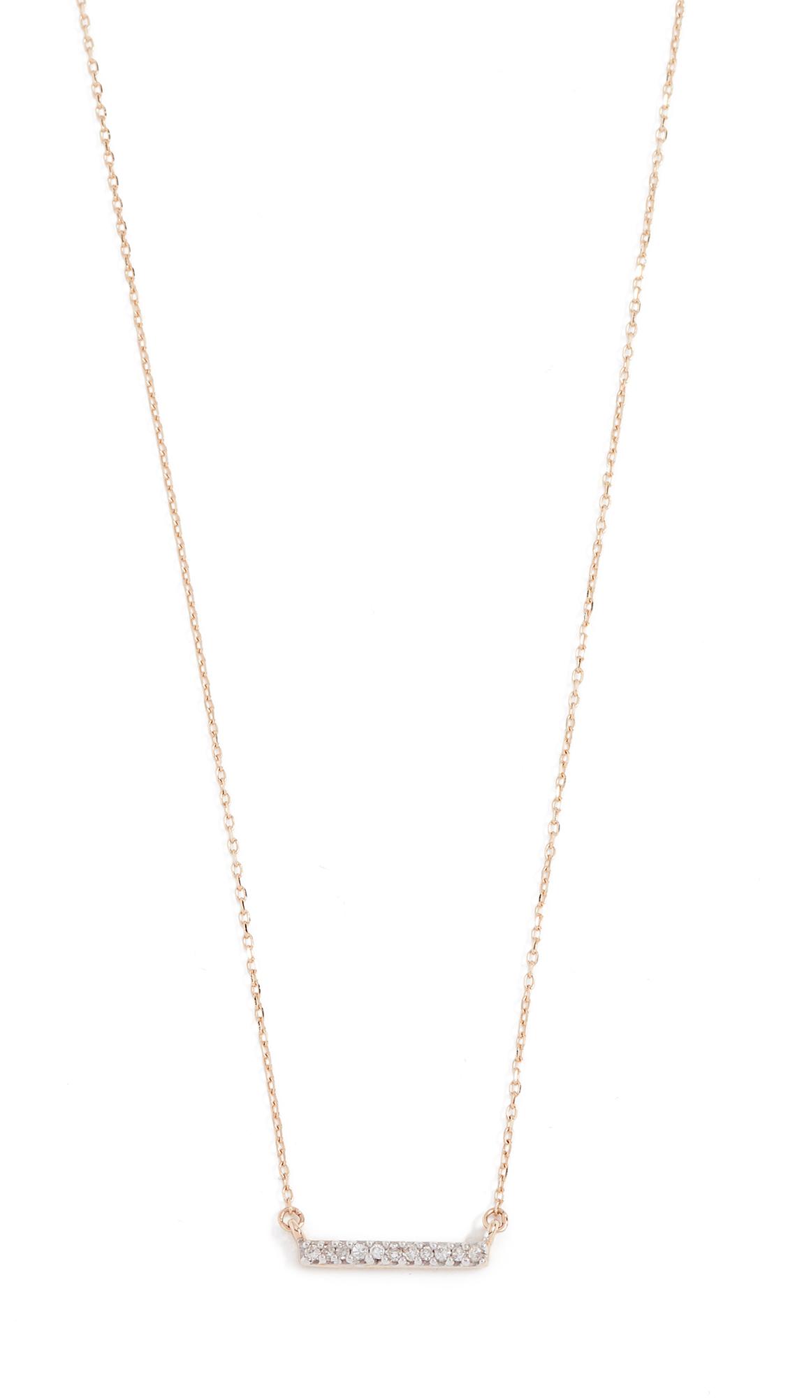 Adina Reyter 14k Gold Pave Bar Necklace - Gold