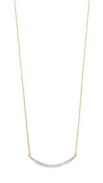 Adina Reyter 14k Gold Large Pave Curve Necklace