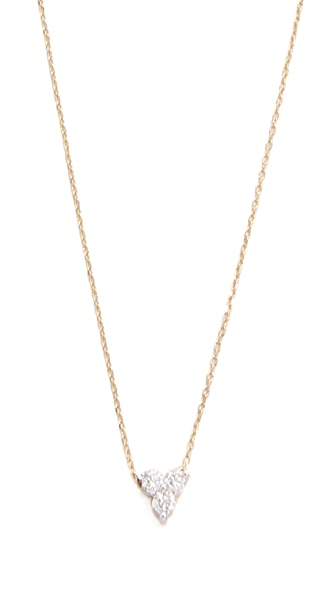 Adina Reyter 14k Gold Diamond Cluster Necklace - Gold/Clear