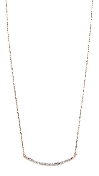 Adina Reyter 14k Gold Large Pave Curve Necklace