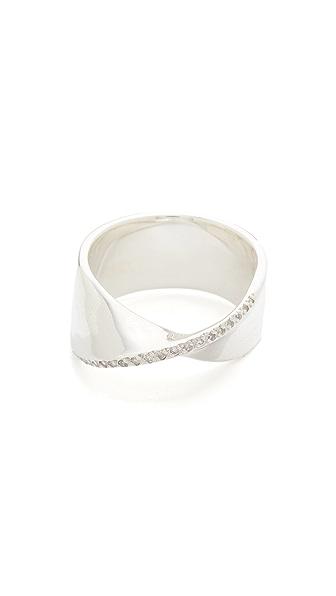 Adina Reyter Large Pave One Twist Ring