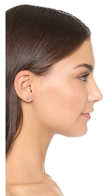 Adina Reyter Solid Pave Teardrop Stud Earrings