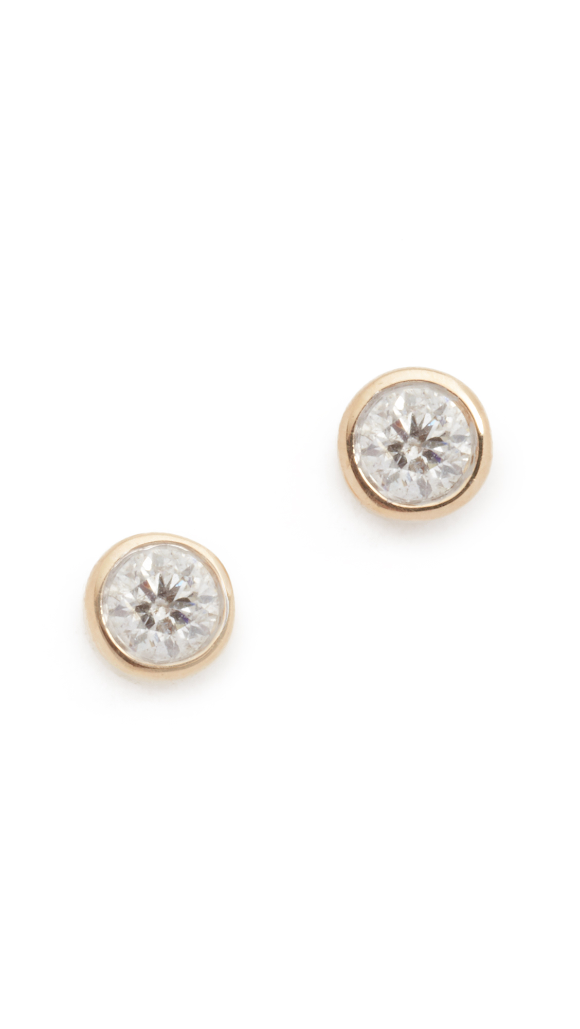 Adina Reyter 14k Gold Single Diamond Stud Earrings - Gold