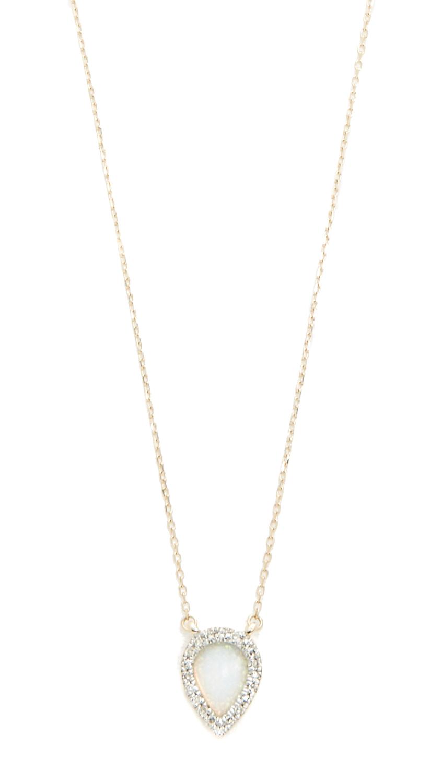 Adina Reyter 14k Gold Small Opal & Diamond Teardrop Pendant Necklace - Gold/Opal
