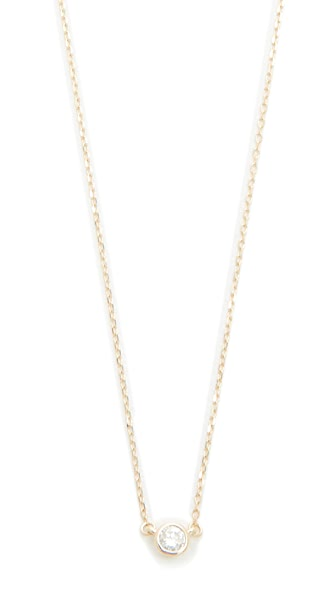Adina Reyter 14k Gold Single Diamond Necklace - Gold