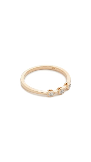 Adina Reyter 14k Gold 3 Diamond Ring