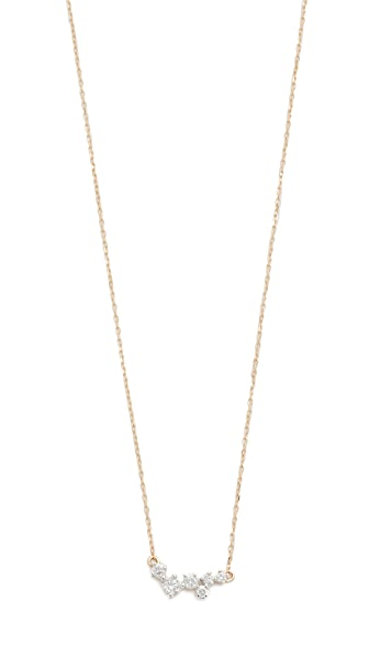 Adina Reyter 14k Gold Scattered Diamond Necklace - Gold