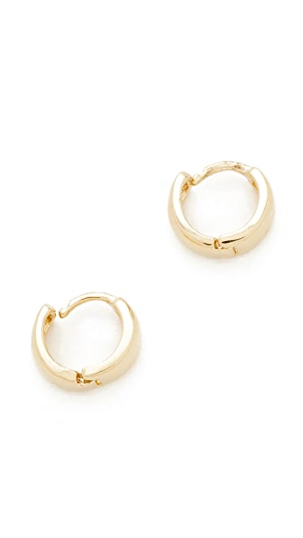 Adina Reyter 14k Gold Wide Huggie Hoop Earrings - Gold