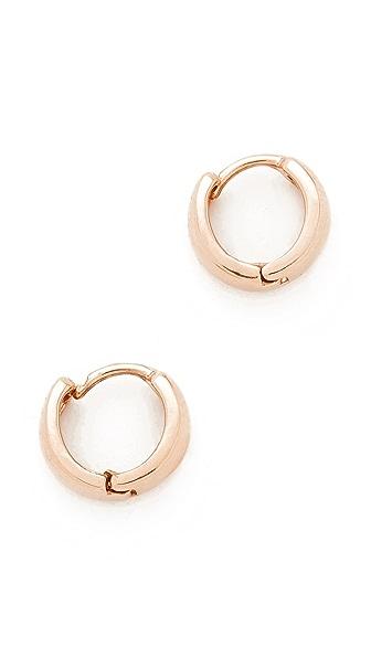 Adina Reyter 14k Gold Wide Huggie Hoop Earrings - Rose Gold