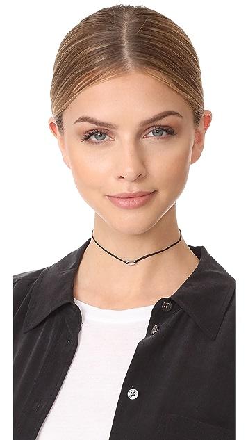 Adina Reyter Pave Oval Choker Necklace