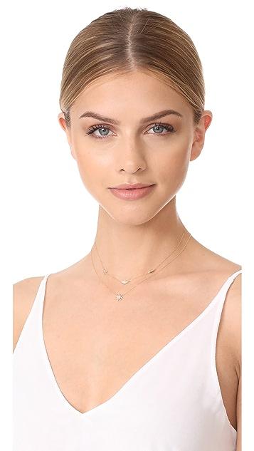 Adina Reyter 14k Gold Pave Triangle Chain Choker Necklace