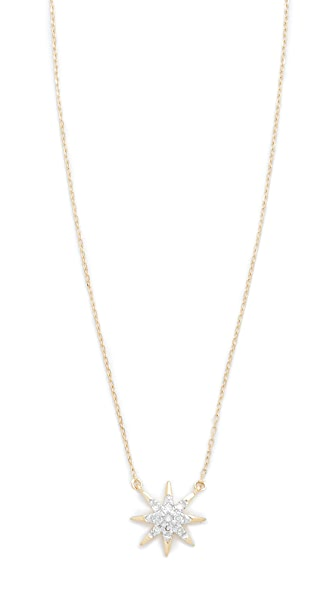 Adina Reyter Solid Pave Starburst Necklace - Gold