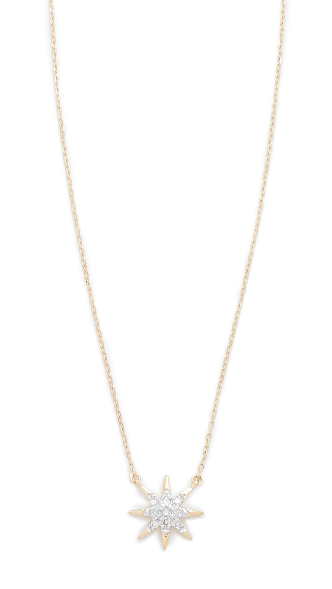 Adina Reyter Solid Pave Starburst Necklace - Gold