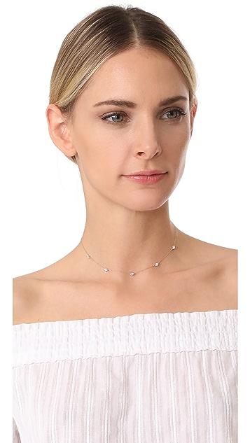 Adina Reyter 14k Gold 5 Cluster Chain Choker Necklace
