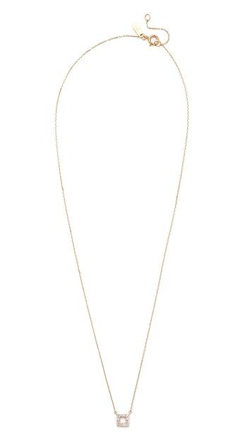 Adina Reyter Super Tiny Pave Square Necklace