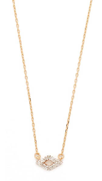 Adina Reyter Super Tiny Pave Diamond Necklace - Rose Gold