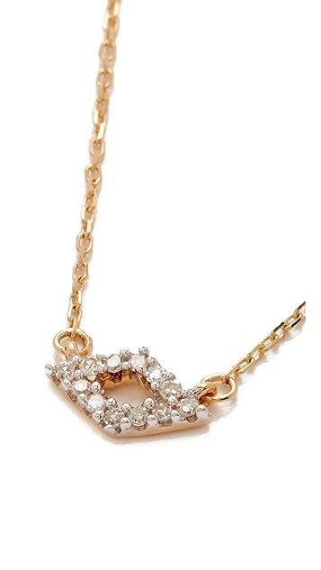 Adina Reyter Super Tiny Pave Diamond Necklace