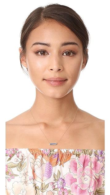 Adina Reyter Lapis + Diamond Bar Necklace
