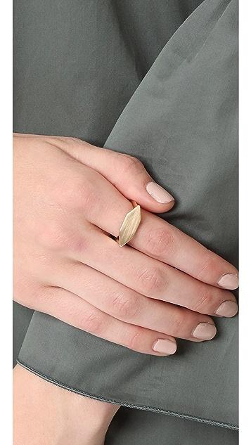 Adina Reyter 14k Gold Stretched Hexagon Signet Ring