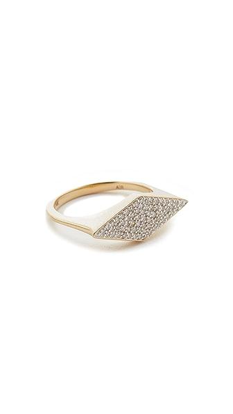 Adina Reyter 14k Gold Stretched Diamond Signet Ring - Gold