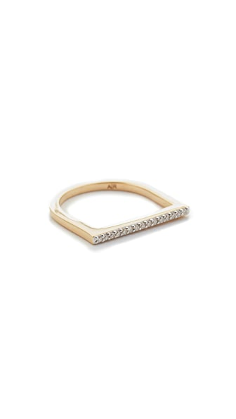Adina Reyter 14k Gold Flat Bar Ring - Gold