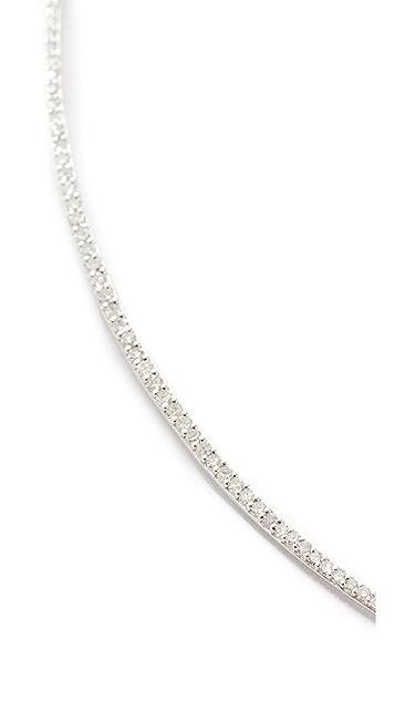 Adina Reyter 14k Gold Pave Curve Collar Necklace