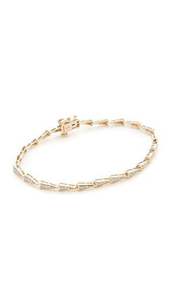 Adina Reyter 14k Gold Pave Triangle Tennis Bracelet - Gold