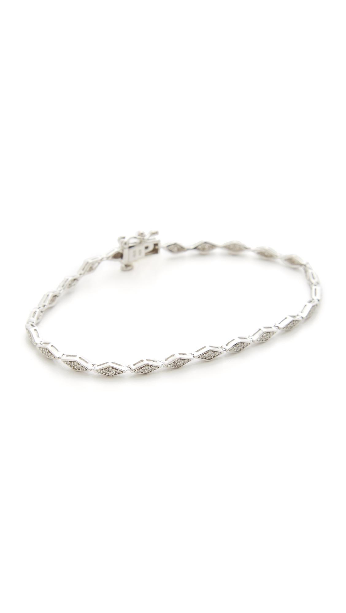 Adina Reyter Pave Diamond Tennis Bracelet - Silver