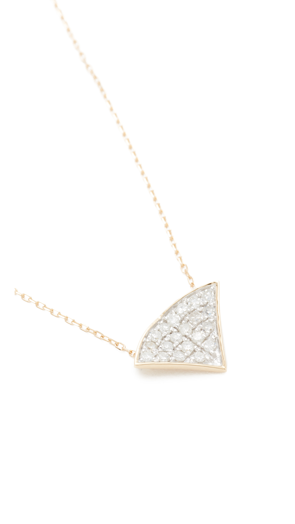 Adina Reyter 14k Gold Pave Folded Fan Necklace 4UYhNlg7o