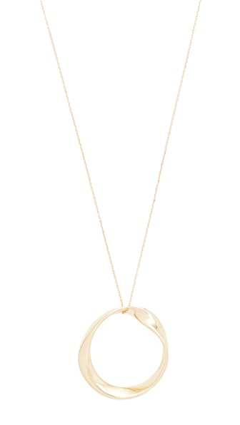 Adina Reyter 14k Gold Large Twist Circle Necklace - Gold