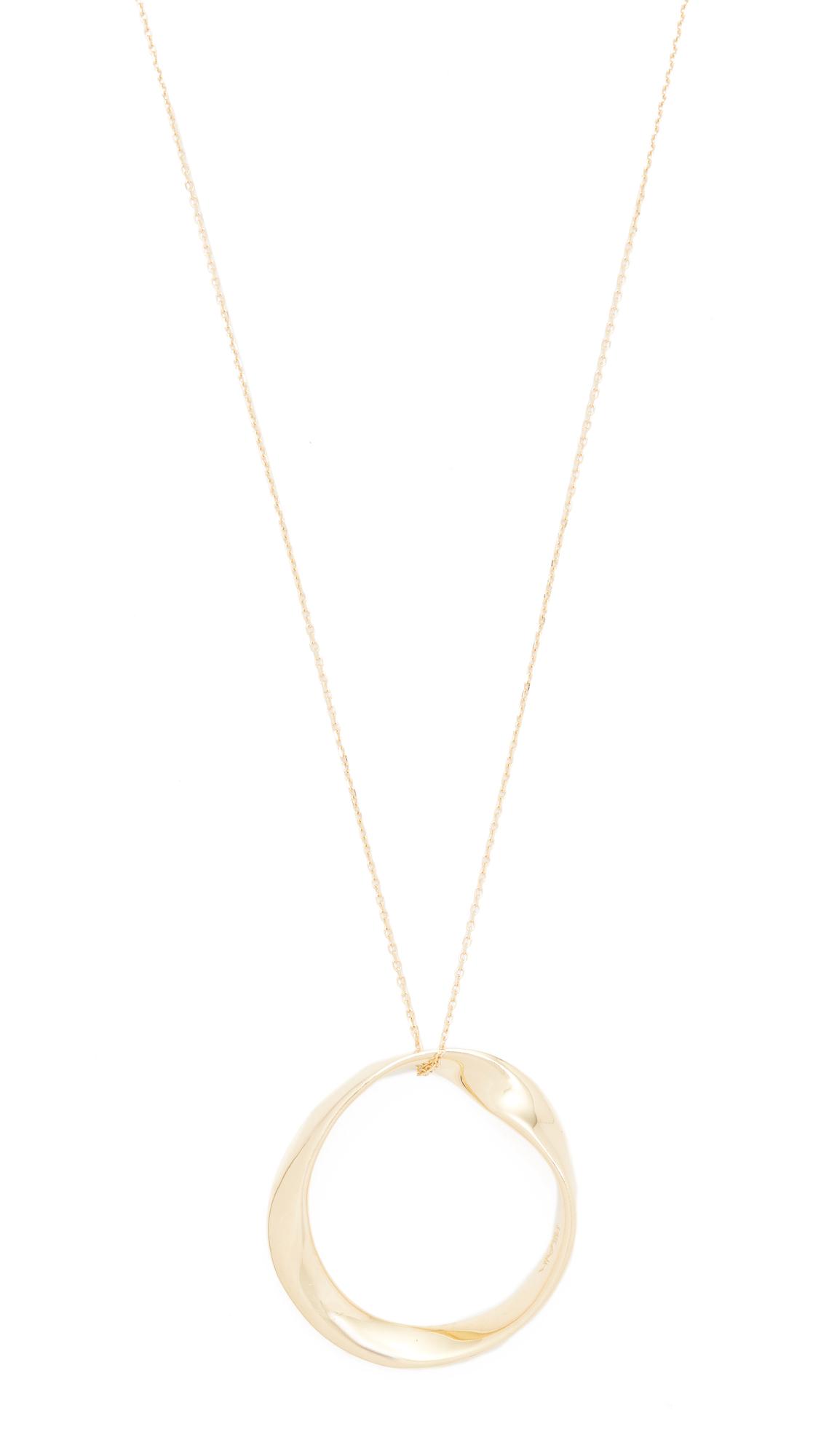 Adina Reyter 14k Gold Large Twist Circle Necklace - Gold