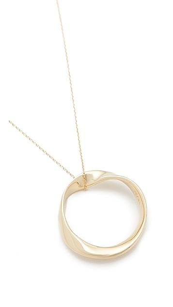 Adina Reyter 14k Gold Large Twist Circle Necklace
