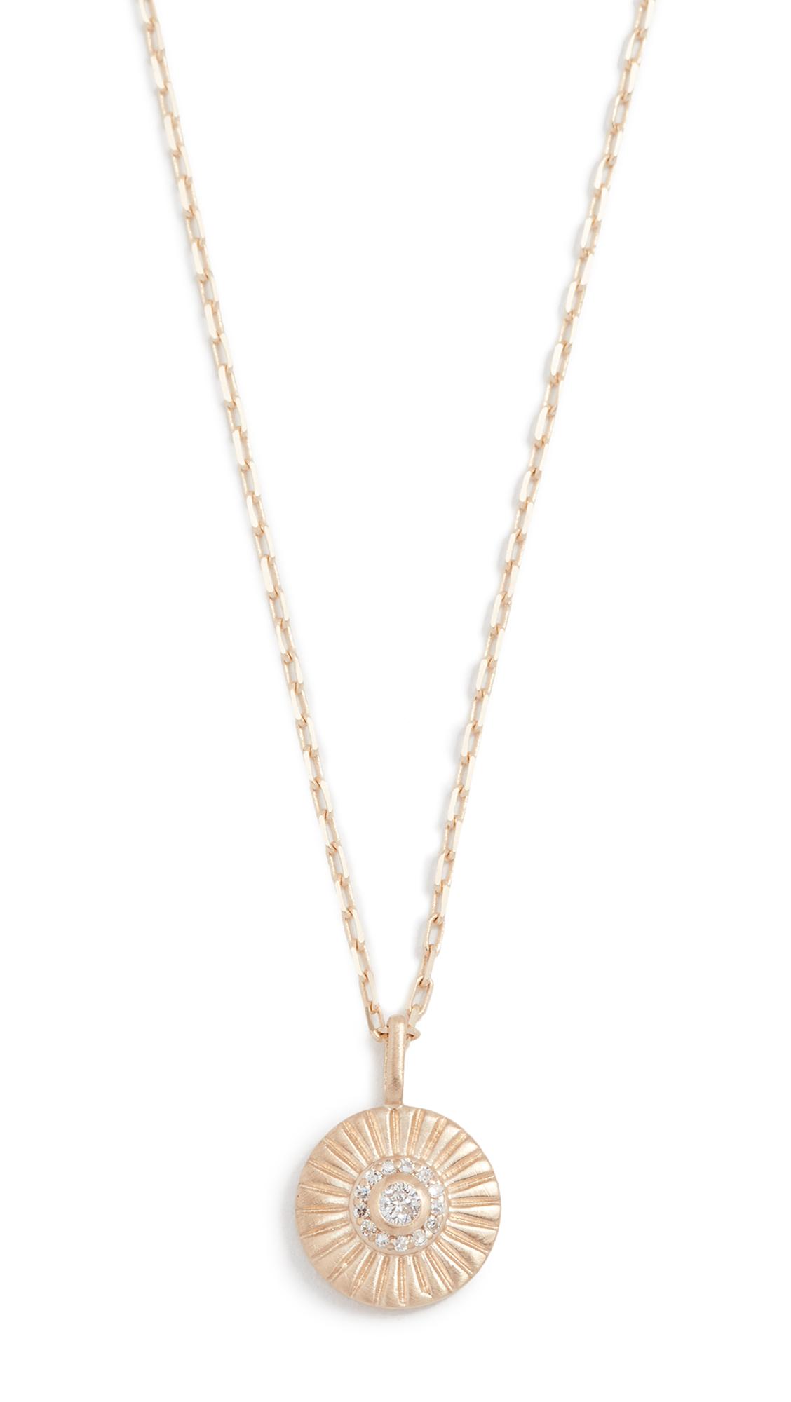 Adina Reyter 14k Gold Diamond Small Rays Pendant Necklace TL1ZL