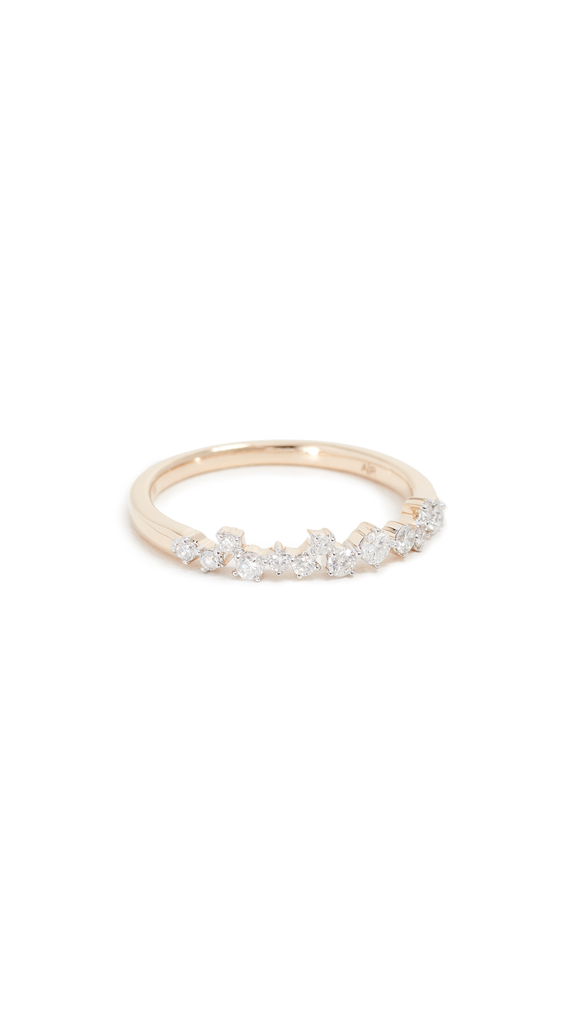ADINA REYTER 14K EXTENDED SCATTERED DIAMOND RING