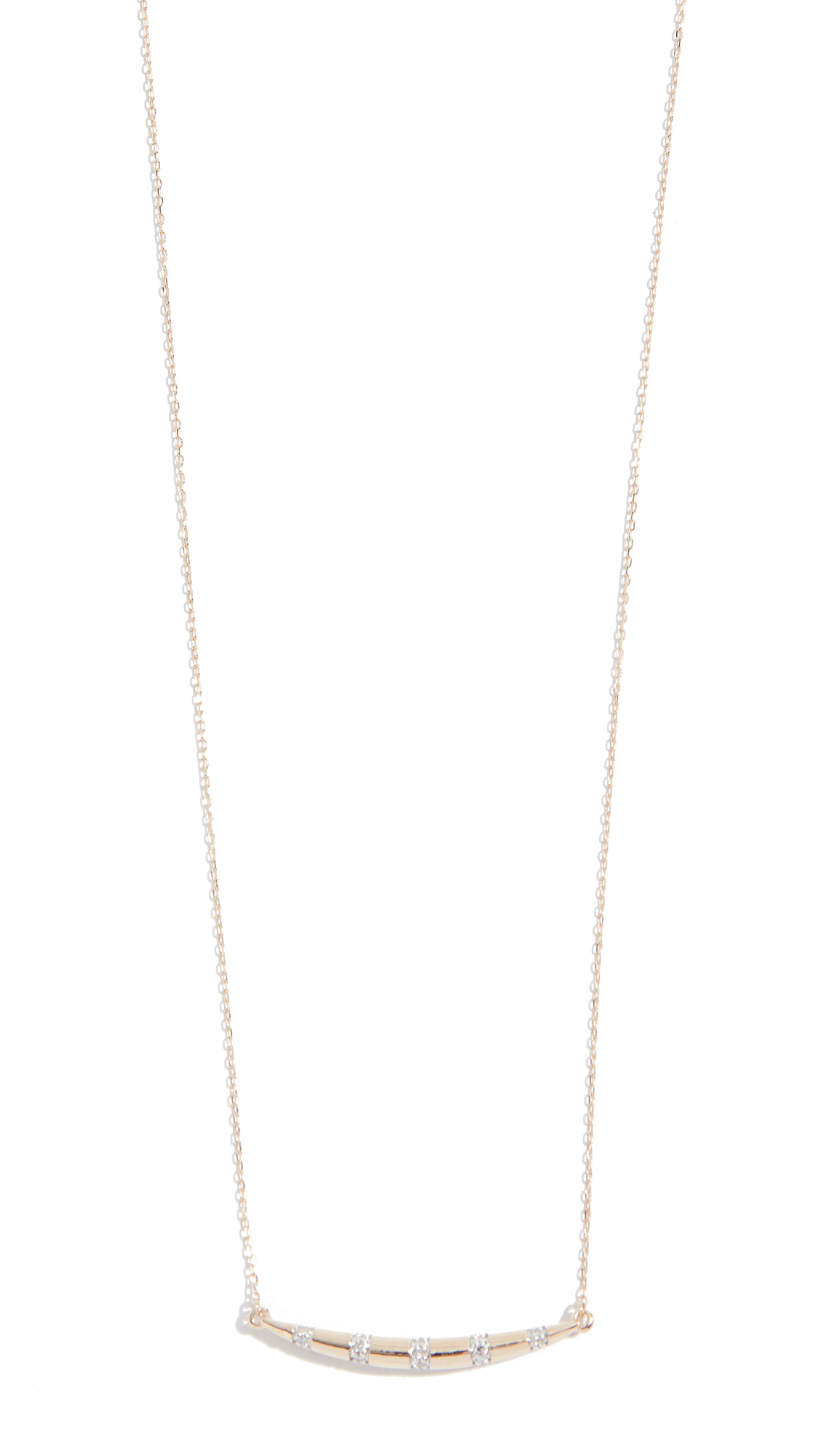 ADINA REYTER 14K LARGE DIAMOND CURVE NECKLACE