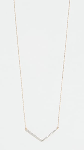 Adina Reyter 14K LARGE PAVÉ V NECKLACE