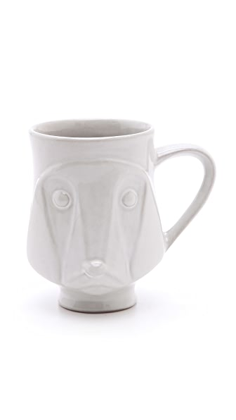 Jonathan Adler Utopia Dog Mug - White