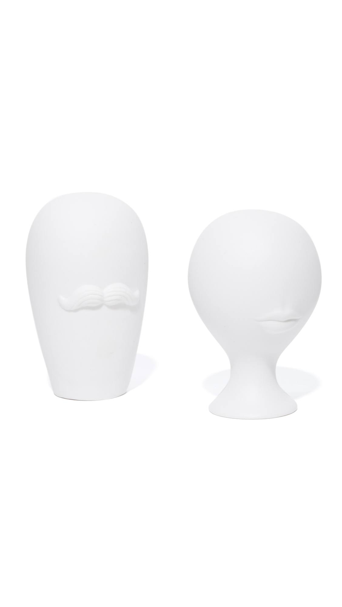 Jonathan Adler Mr. & Mrs. Muse Salt + Pepper Shakers - White
