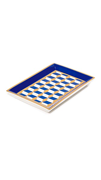 Jonathan Adler Versailles Rectangle Tray - Blue