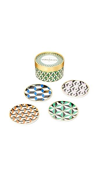 Jonathan Adler Versailles Coasters - Multi
