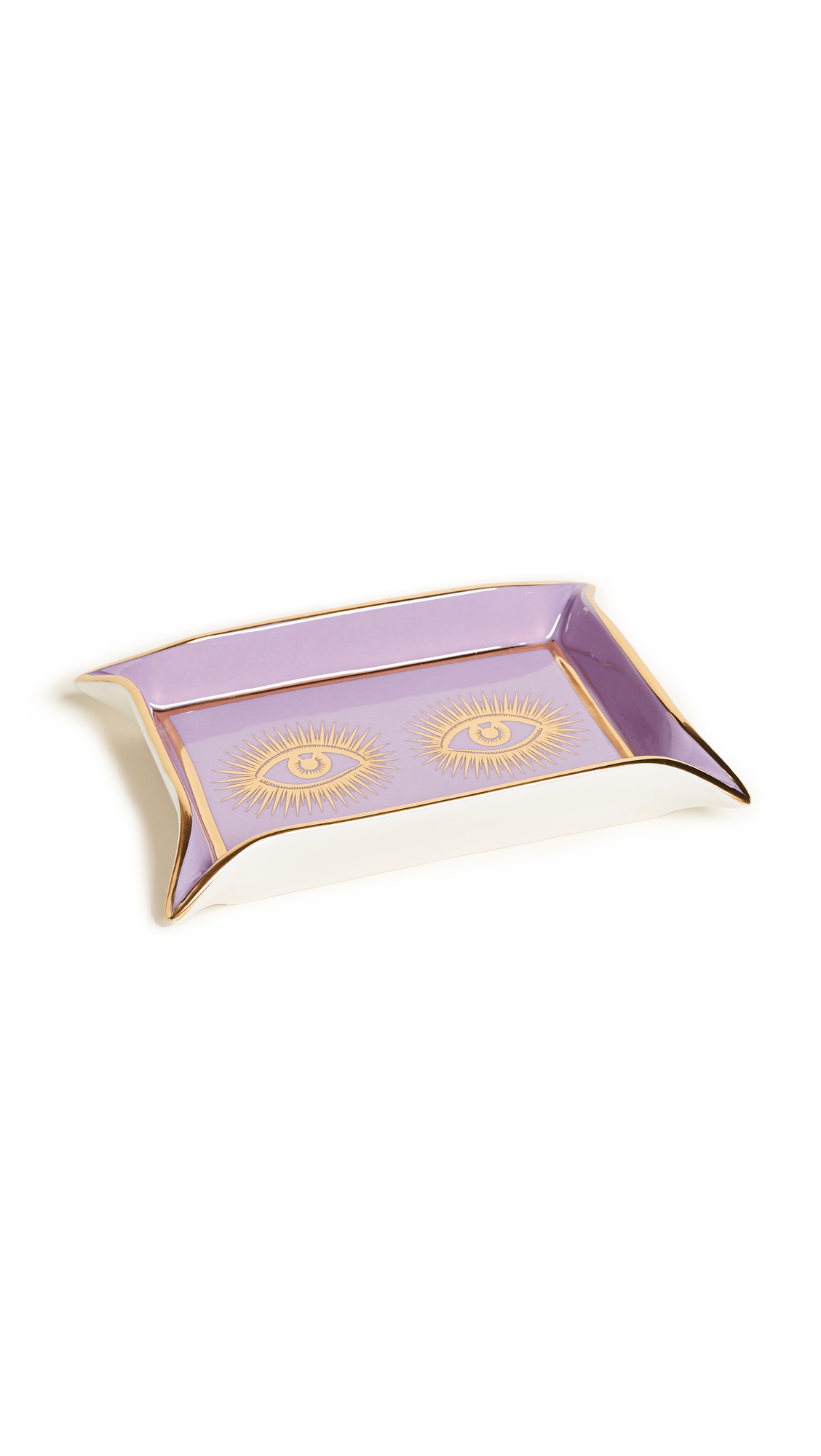 Jonathan Adler Eyes Valet Tray - White/Gold