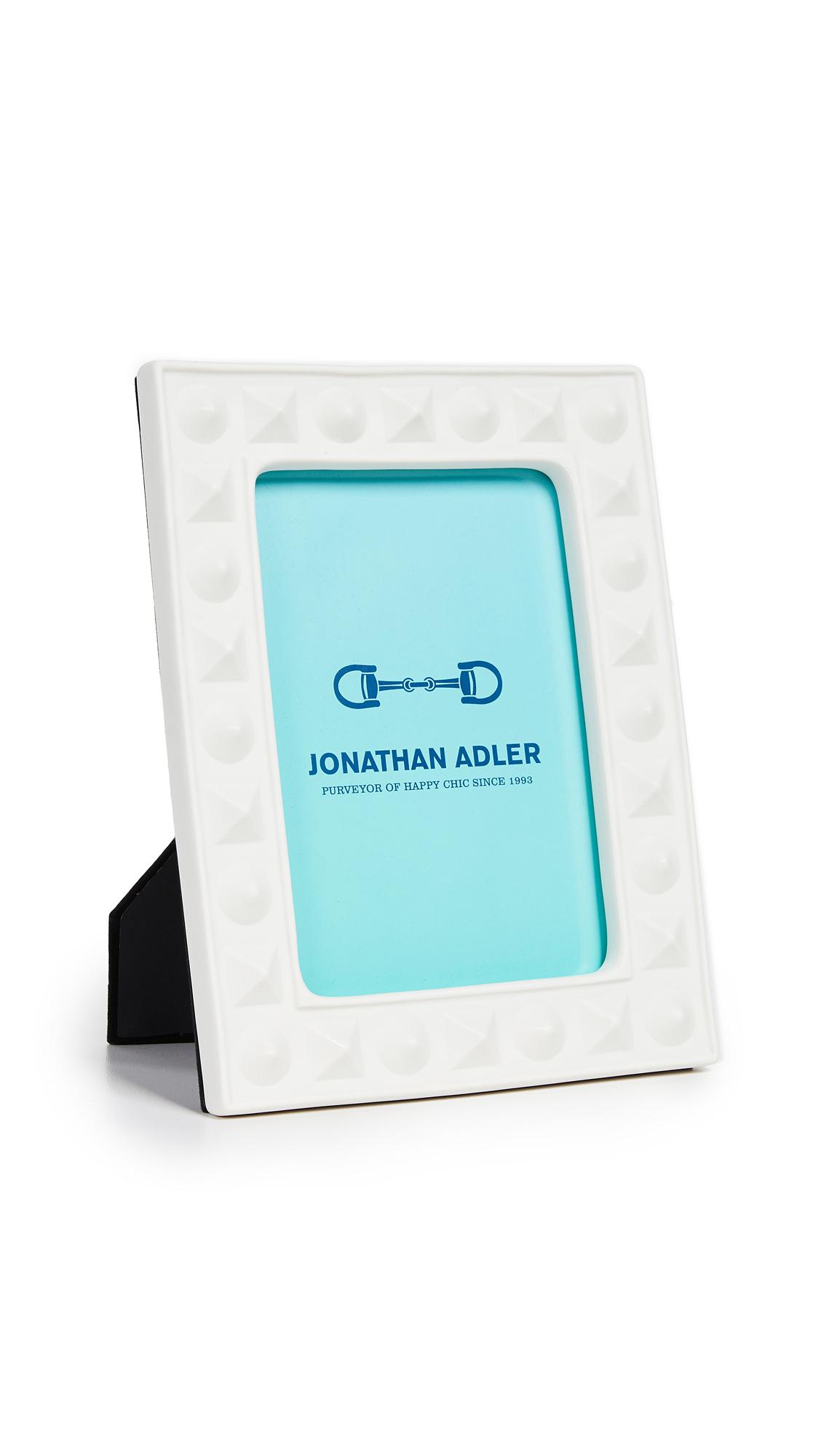 Jonathan Adler Charade Studded 5x7 Frame - White